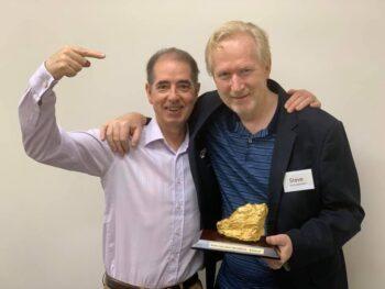 Steve Barnes won the Golden Nugget Award